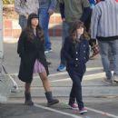 Zooey Deschanel – On set filming 'New Girl' in Los Angeles - 454 x 459