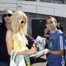 Paris Hilton visits Bondi Icebergs in Sydney, Australia