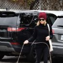 Reese Witherspoon – Takes her dog Pepper shopping in Brentwood