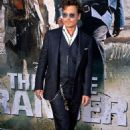 """Johnny Depp arrive at the premiere of Walt Disney Pictures' """"The Lone Ranger"""" at Disney California Adventure Park on June 22, 2013 in Anaheim"""