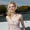 Elle Fanning – L'Oreal Fashion Show After Party in Paris