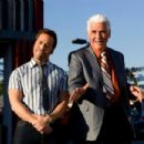 """Don Ready (Jeremy Piven, left) has been enlisted by car dealer Ben Selleck (James Brolin, right ) to keep his dealership afloat in the comedy """"The Goods: Live Hard. Sell Hard."""" Photo Credit: Sam Emerson. Copyright © 2009 by PARAMOUNT VANTAGE,"""