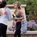 AnnaLynne McCord in Tights and Sports Bra out in Malibu - 454 x 648