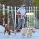 Aubrey Plaza – Stroll with her pups in Los Angeles - 454 x 303