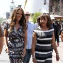 Vanessa Williams: interview on Extra at The Grove in Los Angeles