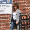 Jennifer Lopez on the set of 'Shades of Blue' in NYC - 454 x 689