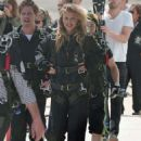 AnnaLynne McCord – Skydives for her charity Together1Heart in Santa Barbara