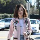 Lucy Hale in jeans shopping at Urban Outfitters in Los Angeles January 28, 2017 - 454 x 586