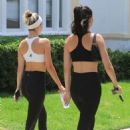 Amelia and Delilah Hamlin – Heading to the gym in West Hollywood - 454 x 681