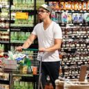 Joe Jonas & his girlfriend Blanda Eggenschwiler stocked up on snacks, beer and watermelon at local Whole Foods market for the 4th of July party at Nick's place