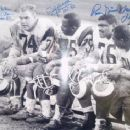 Merlin Olson, Deacon Jones, Rosie Grier & Lamar Lundy Of The L. A .Rams - 454 x 366