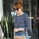Actress Emma Stone is seen leaving the Meche Salon in West Hollywood, California on June 8, 2016 - 434 x 600