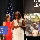 MIchelle Obama and Queen Letizia of Spain Attend 'Lets Girls Learn' - 454 x 312