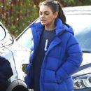Mila Kunis in Blue Jacket – Out in Los Angeles