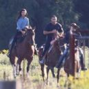 Selena Gomez With Justin Bieber Horseback Riding In Canada