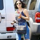 Lucy Hale – Out on a coffee run in Studio City