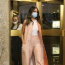 Eiza Gonzalez – In a pink outfit in New York