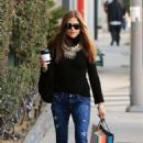 Selma Blair in Jeans – Christmas Shopping in West Hollywood