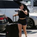 Ariel Winter in Shorts at LAX International Airport in Los Angeles
