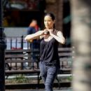 Lucy Liu heads to the set of 'Elementary' in West Village - 454 x 637