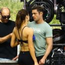 Alexandra Daddario- March 5, 2016- Set of 'Baywatch' - 454 x 562