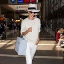 Rosie Huntington-Whiteley is seen arriving at LAX on June 28, 2015