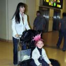 Monica Bellucci - Arrives At Malaga Airport With Vincent Cassel And Deva, 4. 4. 2009.
