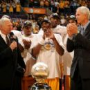 Phil with Jerry West & Kobe Bryant