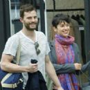 Amelia Warner and Jamie Dornan out in London (April 8, 2015) - 454 x 324