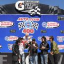 Motley Crue attends the Monster Energy NASCAR Cup Series race at Auto Club Speedway at Auto Club Speedway on March 17, 2019 in Fontana, California - 401 x 600