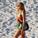 Beyonce Knowles takes a peaceful stroll along a Carribbean beach - February 27, 2011