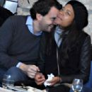 Naomie Harris was seen with boyfriend Peter Legler during a break on the Amalfi Coast on Monday DEcember 30, 2013