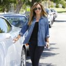 Christine Ouzounian is spotted leaving her home in Santa Monica, California and heading to a meeting in Century City on August 14, 2015 - 438 x 600