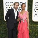 Zoe Saldana and Marco Perego attends the 74th Annual Golden Globe Awards at The Beverly Hilton Hotel on January 8, 2017 in Beverly Hills, California