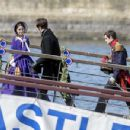 Jenna Louise Coleman Filming the ITV drama 'Victoria' in Hartlepool - 454 x 350