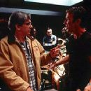 Director Dean Parisot and Tim Allen on the set of Dreamworks' Galaxy Quest - 12/99