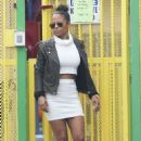Christina Milian spotted dropping off her child at school in Los Angeles Ca