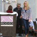 Rod Stewart and Penny Lancaster spotted out for lunch at the 208 Rodeo Restaurant in Beverly Hills, California on January 13, 2015 - 454 x 548