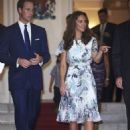 Kate Middleton and Prince William visiting the British High Commissioner's residence in Singapore (September 12)