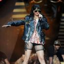 Rihanna rocks the crowd as she performs live during the BBC Radio 1 Hackney Weekend at Hackney Marshes in London