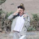 Miley Cyrus at the beach in Malibu - 454 x 516