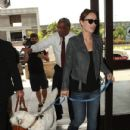 Olivia Wilde: departing from LAX