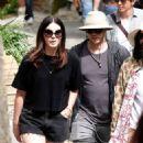Lana Del Rey in Shorts out in Civita di Bagnoregio