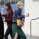 Dakota Fanning in Green Dress – Out in Los Angeles
