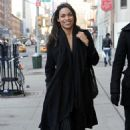 Rosario Dawson Looks Happy As She Walks Past The Bowery Hotel In New York, February 19 2010