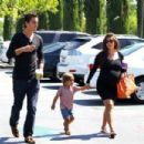 Kourtney Kardashian with Scott Disick and their son Mason as they go see a movie in Calabasas, CA (June 30)