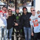Motley Crue attends the Monster Energy NASCAR Cup Series race at Auto Club Speedway at Auto Club Speedway on March 17, 2019 in Fontana, California - 454 x 303