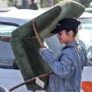 Vanessa Hudgens in Tights at a local vintage store in Atwater Village