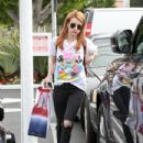Emma Roberts goes about her day in a Disney t-shirt on April 6, 2016