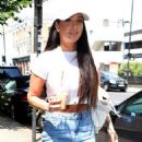 Tulisa Contostavlos in Jeans at Sarm Studios in London - 454 x 531